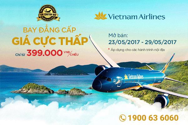 Vé máy bay giá rẻ Vietnam Airlines 399k